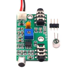 1pcs microphone amplifier module adjustable gain amplifier Audio circuit Ac signal amplifier Board Signal amplifier