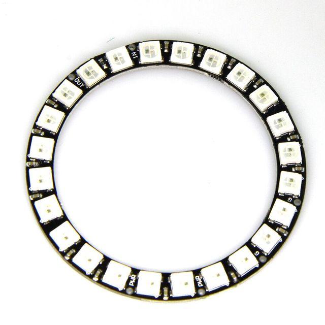 Светодиодный RGB Ring WS2812B 5050, 24 битный светодиодный + интегрированные драйверы для Arduino, 1 заказ