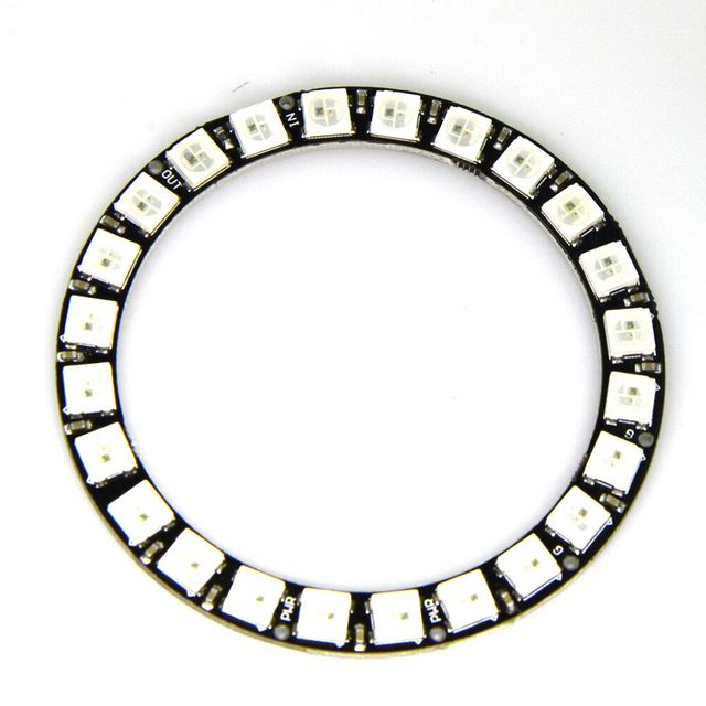 high quality 24Bit RGB LED Ring WS2812B 5050 RGB LED + Integrated Drivers For Arduino 1 order