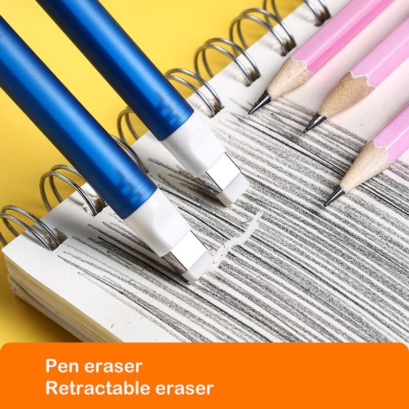 Корректирующие принадлежности Deli 71098, Резиновый выдвижной ластик-карандаш, школьные принадлежности, Ластики для детей 2