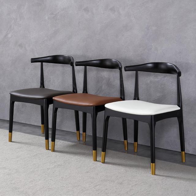 Warp Shape Black Restaurant Chair 3