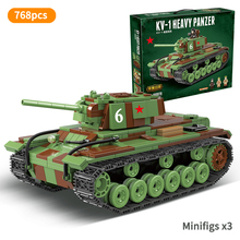 Military World War KV-1 Heavy Tank Track Soviet Union WW2 Soldier Minifigs Building Army tank Blocks Toys for Children Gift printio soviet tank