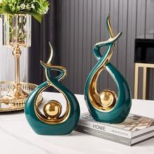 Sculpture moderne en céramique, modélisation abstraite, décoration de la maison, salon, chambre à coucher, bureau, cadeaux