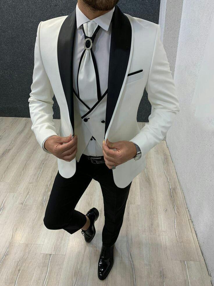 175 Men`s Suit Wedding Tuxedos Double Breasted Best Man Groom Tailored Wedding Best Man Blazer Jacket+Pants Trajes De Hombre