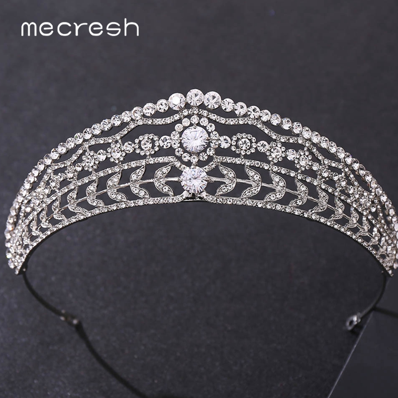 Mecresh Luxury Rhinestone Princess Bridal Crowns Tiaras Gold Color Diadem Wedding Hair Accessories Women Brides Headbands HG262|Hair Jewelry| - AliExpress