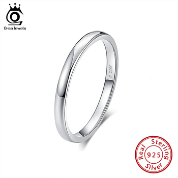 ORSA JEWELS 100% Real 925 Sterling Silver Rings for Women Simple 2019 Classic Wedding Ring Fashion Female Wholesale Jewelry SR74 orsa jewels real 925 sterling silver women rings aaa cubic zircon fashion wedding ring jewelry round finger ring for ladies sr71