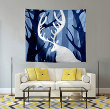 Tapestry wall hanging wall decoration Nordic elk tapestry tablecloth home hanging picture wall hanging Printed wall tapestry halloween witch printed waterproof wall hanging tapestry