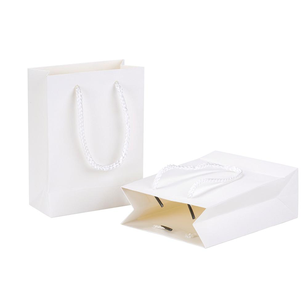10Pcs Rectangle Cardboard Pouches Gift Shopping Bags With String For Clothes Books Packaging Wedding Birthday Party Paper Bags