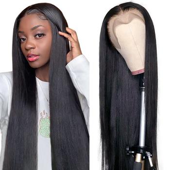 Aircabin 30 Inch 13x4 Lace Front Wigs For Black Women Brazilian Straight Remy Human Hair Glueless Deep Part 4x4 Closure Wig