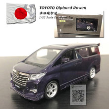 JK 1/32 Scale Car Model Toys TOYOTA Alphard Rowen MPV Sound&Light  Diecast Metal Pull Back Car Model Toy For Gift,Kids недорого