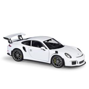 Image 5 - مقياس ويلي 1:24 محاكي سيارة بورش 911 GT3 RS نموذج سيارة رياضية سبيكة معدنية لعبة سباق السيارات لعبة للأطفال هدية
