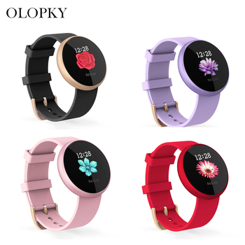 Women Fashion Smart Watch Bluetooth Band Heart Rate Fitness Monitoring IP67 Waterproof Health Smart Band For Samsung IPhone