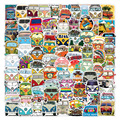 10/50/100PCS Retro Hippies Stickers Love and Peace Bus Decals for DIY Stationery Car Motorcycle Laptop Pad Luggage Skateboard