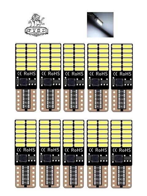 10 sztuk T10 led lampa samochodowa samochód z CANBUS w5w 4014 24smd 8W 6000K emitowanie światła diody niezależna żarówka doskonały producto biały