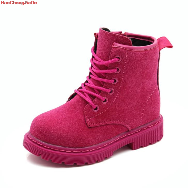 Girls Martin Boots Children Boots For Boys Sneakers Winter New Girls Boots Fashion Kids Martin Boot Leather Shoes