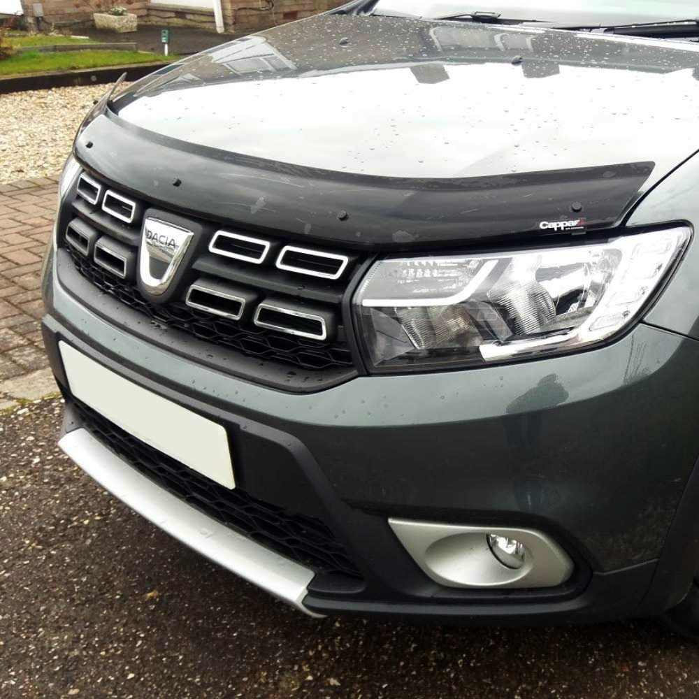 For Renault Dacia Duster 2018 + Front Bug Shield Hood The Deflectors Guard Bonnet