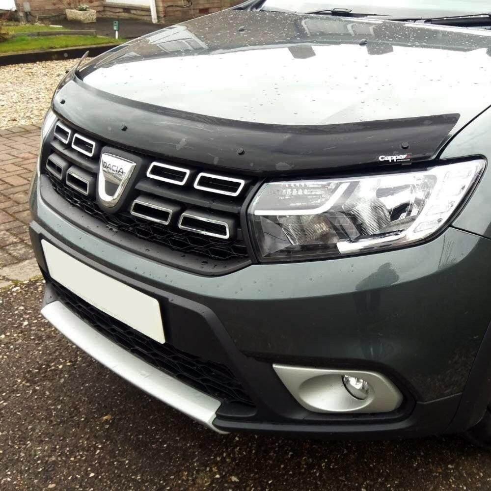 Для Renault Dacia Duster 2018 + передняя защита от насекомых капот дефлекторы|Козырьки для ветрового стекла|   | АлиЭкспресс