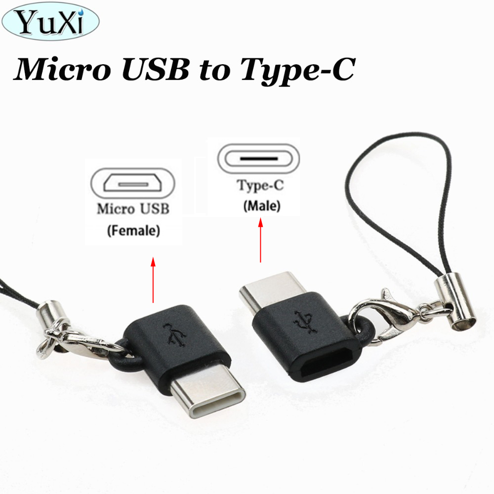 YuXi USB 3.1 Type C Male To Micro USB Female Adapter Type-C Converter Connector USB-C For Xiaomi Mi 8 For Oneplus Android Phone