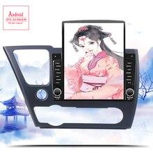 6 + 128G Android 10.0 autoradio multimédia lecteur vidéo Navigation GPS 2 din pour Honda CIVIC hayon 2013 2014 2015 Casstte dvd