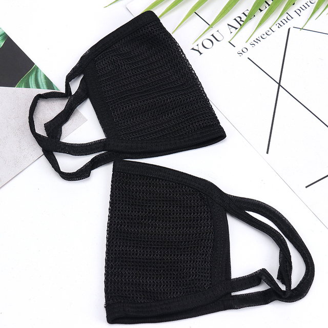 Korean Style Black Dust Protective Mask Nose Protection Blend Face Mouth Mask Fashion Reusable Masks For Man Woman 2