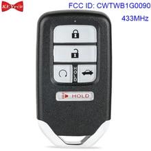 KEYECU for Honda Accord 2018 2019 Smart Keyless Remote Key Fob FCC ID: CWTWB1G0090 433MHz FSK 4A Chip