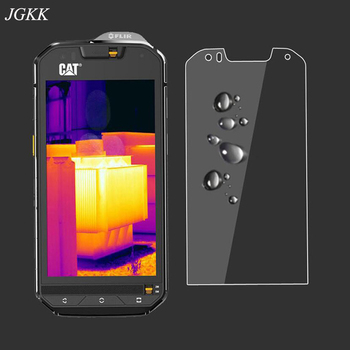 Перейти на Алиэкспресс и купить 2.5D Закаленное стекло для Cat S60 Защитное стекло для экрана для Celular Caterpillar CAT S61 S41 S31 S52 защитная пленка