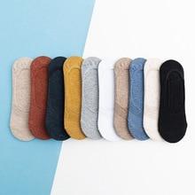 10 штук = 5 пар весна лето женщин носки сплошной цвет мода дикий мелкий рот невидимые тапочки felmen девушки Multi-стиль