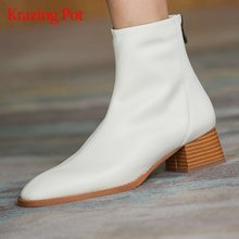 Ботинки челси из натуральной кожи с круглым носком на среднем