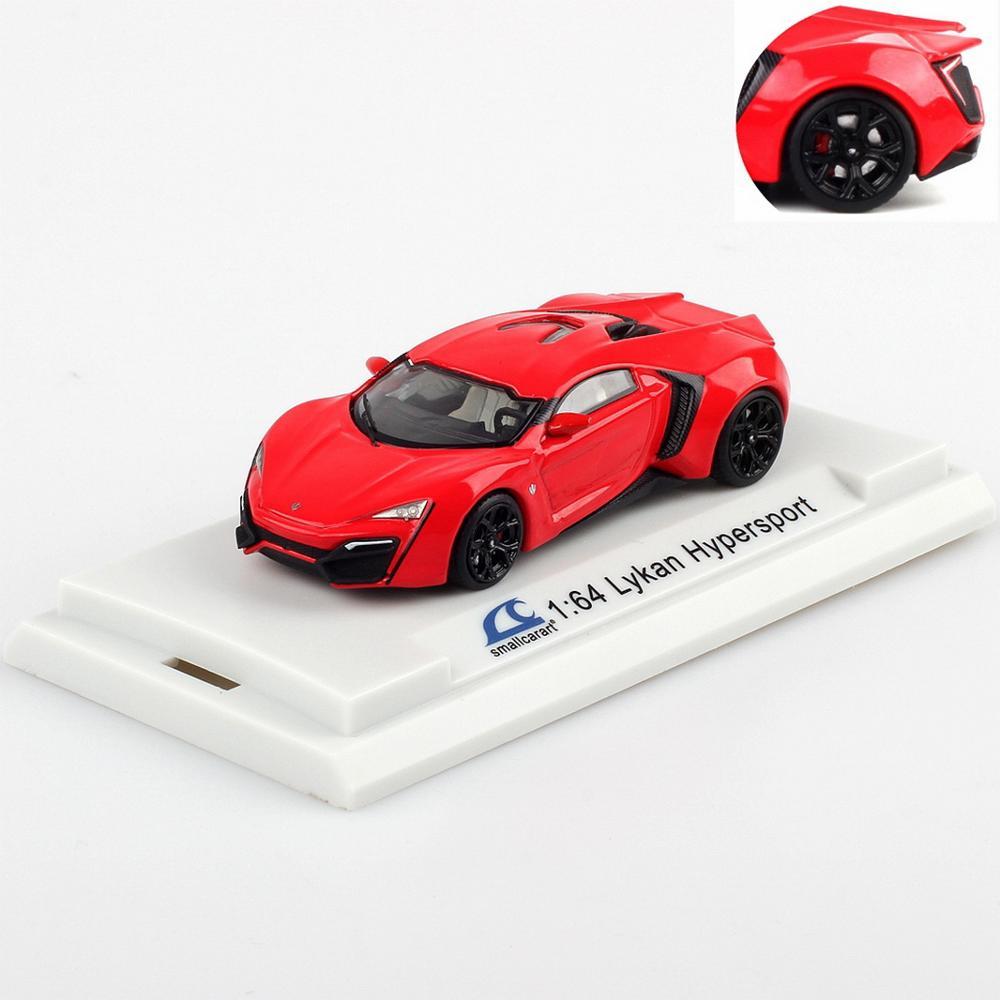 SmallCarArt 1/64 Scale Lykan HyperSport 2-door Red Diecast Car Model Gift