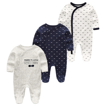 0-12Months Baby Rompers Newborn Girls&Boys 100%Cotton Clothes of Long Sheeve 1/2/3Piece Infant Clothing Pajamas Overalls Cheap - Baby Rompers RFL3200, 6M