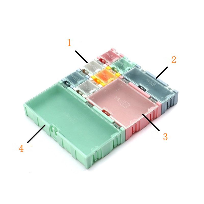 9pcs/set SMD Container SMT IC Electronic Component Mini Storage Box Jewelry Case 4XFD