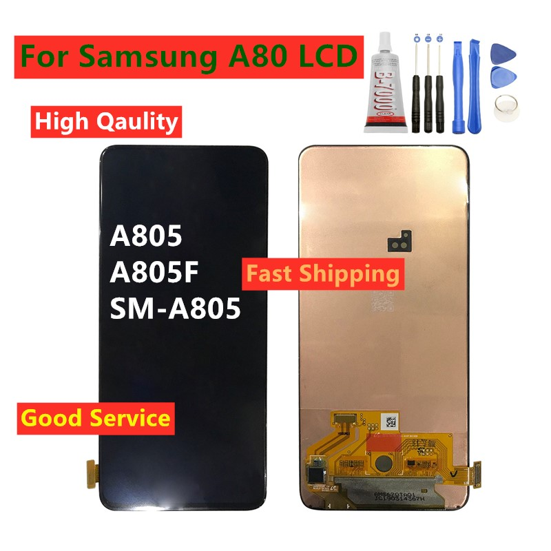For <font><b>SAMSUNG</b></font> <font><b>Galaxy</b></font> <font><b>A80</b></font> A805 A805F SM-A805 <font><b>LCD</b></font> Display Digitizer Touch Panel Screen Assembly For <font><b>Samsung</b></font> <font><b>A80</b></font> <font><b>LCD</b></font> Display image