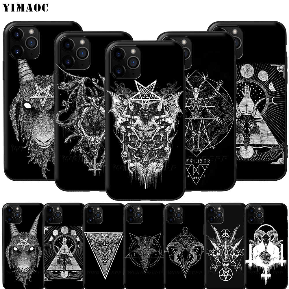 YIMAOC Geit Hoofd Satan Silicone Soft Case voor iPhone 11 Pro XS Max XR X 8 7 6 6S plus 5 5S SE