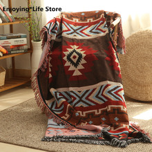 Blanket Tassel Blanket Animal Geometric Yarn-dyed Pattern Tassel Sofa Decoration Decorative Painting Bed Throws all over pattern blanket