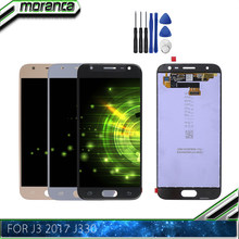 J3 2017 LCD Display Touch Digitizer for SAMSUNG Galaxy J3 2017 LCD Replacement Screen J3 Pro 2017 J330 J330F Can Adjust(China)