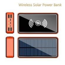 50000mAh Solar Wireless Power Bank ładowarka do telefonu ładowarka podróżna na zewnątrz przenośny Powerbank do telefonu Samsung Xiaomi tanie tanio Tollcuudda Bateria litowo-polimerowa Z panelu słonecznego Wsparcie szybkie ładowanie Z latarką Wodoodporna Ładowania bezprzewodowego