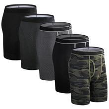 5pcs conjunto de boxer longo cueca masculina calcinha sexy clavin underware calzones boxershorts boxer shorts homme tronco