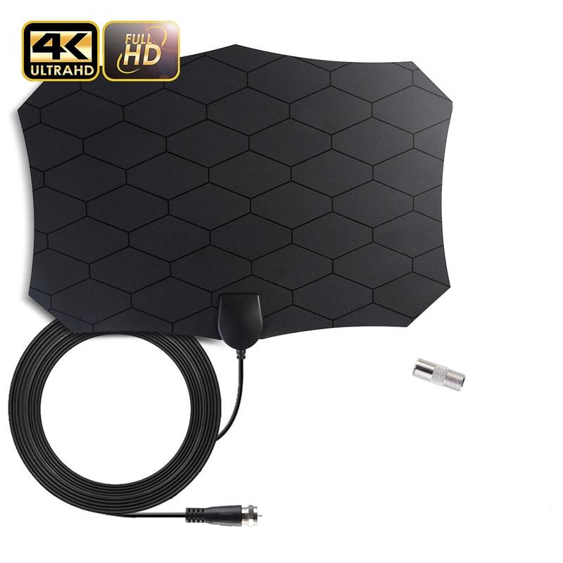 Smart 200 Miles Indoor Clear HDTV Antenna Digital Signal Receiver 4k 1080P DVB-T/DVB-T2 Isdb-tb Grid TV Aerial Satellite Dish