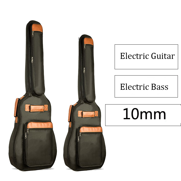 40 / 46 Inch Electric Guitar Bag Waterproof Electric Bass Bag 10mm Thicken Padded Gig Bag Case