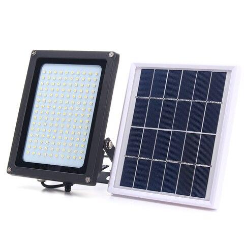 1 conjunto de led projector com painel movido a energia solar sensor de movimento luzes