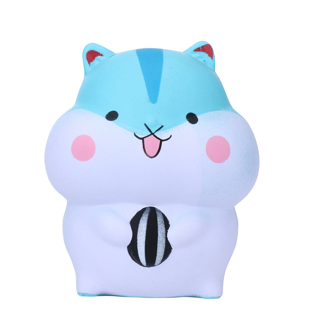 Toys Dropshipping Squishies Toy Squishy Antistress 1PC Cute Hamster Simulation Cake Slow Rising  Straps Bread Toys L1219