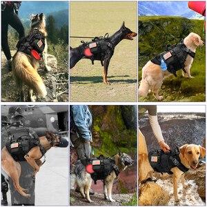 Image 2 - Duurzaam Nylon Hond Harnas Tactische Militaire K9 Werken Hond Vest Geen Pull Pet Training Harnassen Vest voor Medium Grote Honden M L