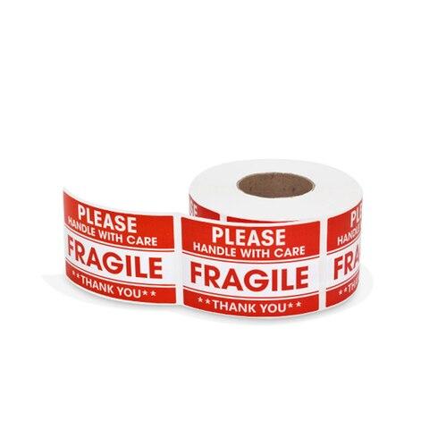 500 pces rolo auto adesivo fragil aviso adesivo ter cuidado com o punho mante lo