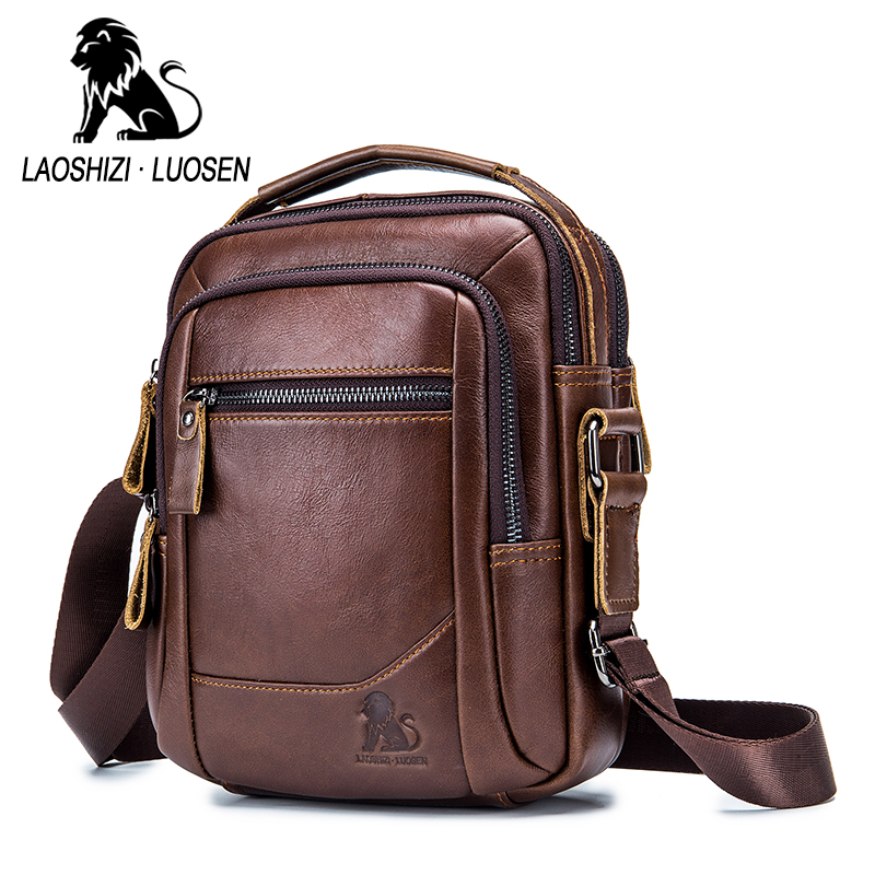 Quality Guarantee Men's Genuine Leather Bag Crossbody Bags For Men Messenger Bag Man Cow Leather Shoulder Bags Male Handbags