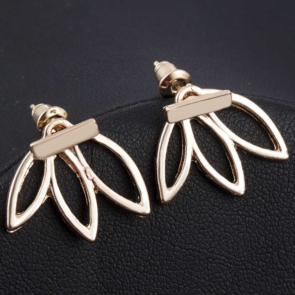Punk Gold Silver ต่างหู Fmeale T เรียบง่าย Ear Stud ต่างหูเครื่องประดับ Brincos Bijoux Femme เครื่องประดับใหม่