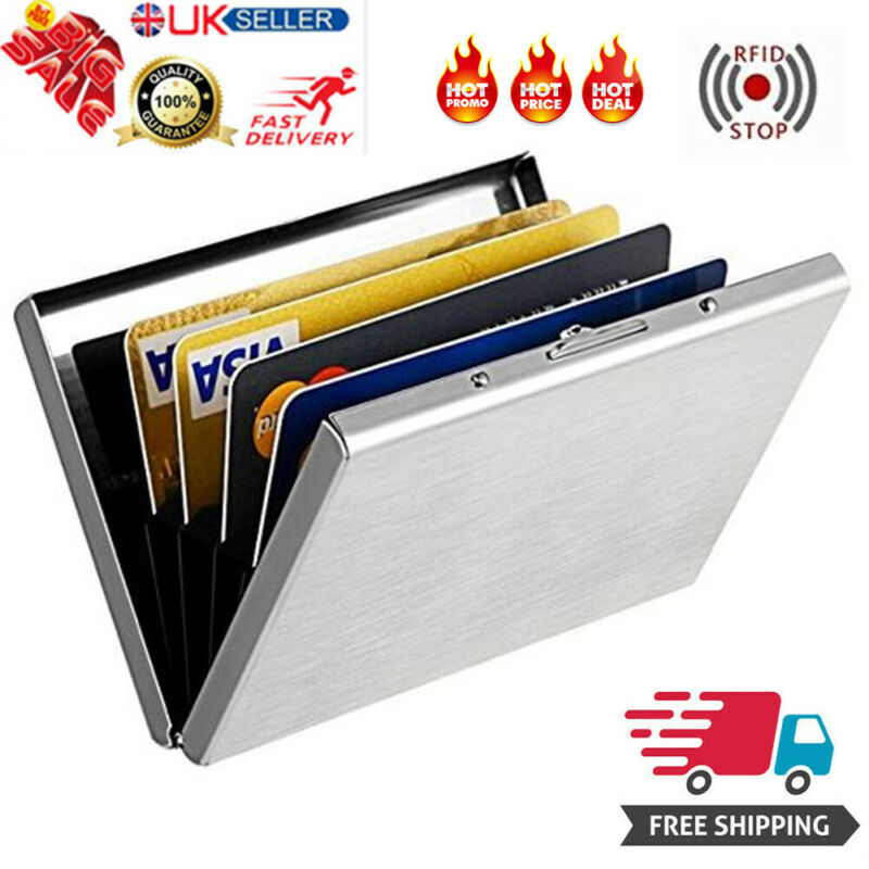 Stainless Steel Credit Card Holder Men Slim Anti Protect Travel ID Cardholder Women Rfid Wallet Metal Case Porte Carte