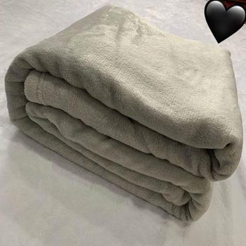 2020 Home Textile Band Flannel Wool Blanket Warm Soft Coral Fleece Blanket bedding Adult Solid Sofa Bed Coral Fleece Bed Sheet фото