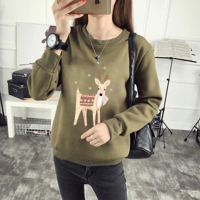 2019 Women Fashion Color Gray Casual Sweatershirts Ladies Autumn Front Pocket Hoodies Pullover Tops