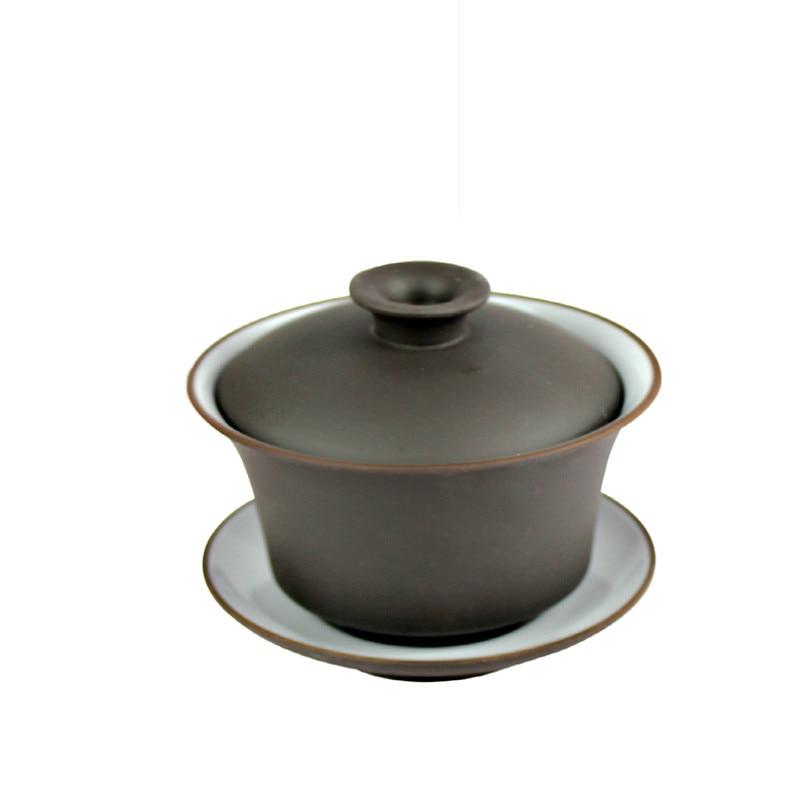 Ceramic Tea Cup Chinease Kung Fu Tea Set Gaiwan Tea Accessories  Kungfu Tea 120ml Gaiwan Cups C