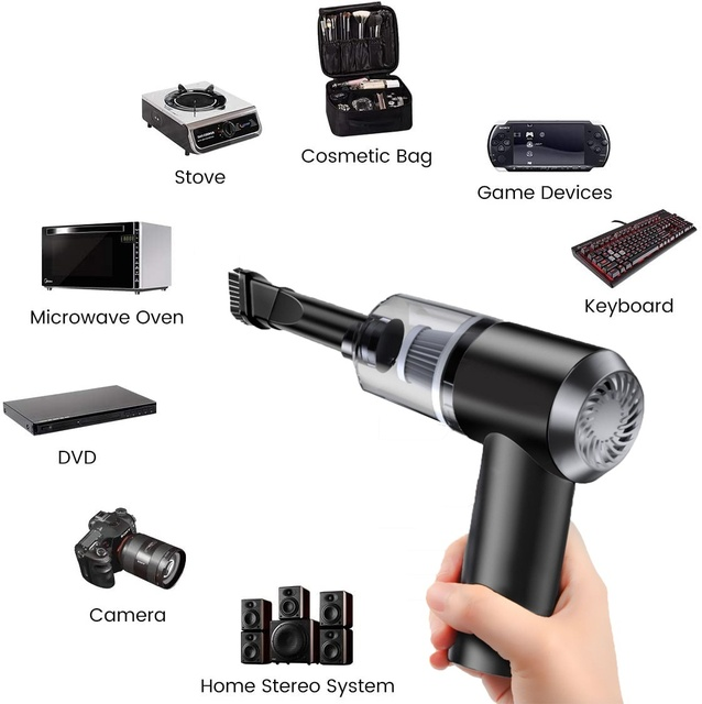 Keyboard Cleaner, Rechargeable Mini Vacuum Wet Dry Cordless Desk Vacuum Cleaner, Best Cleaner for Dust,Hairs,Crumbs,Computer,Car